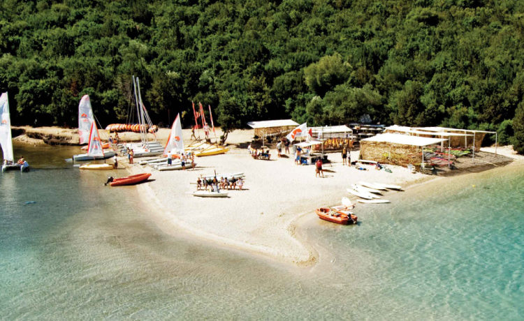 The beautiful Bella Vraka beach in Sivota Greece