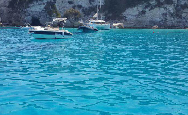 Ionian sea in Sivota Greece